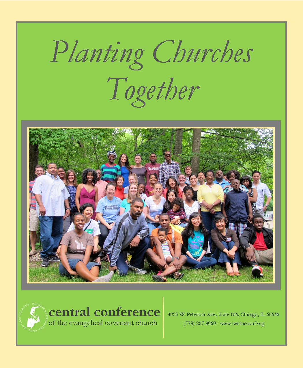 Church Planting Brochure 2014 green  85x7 print 8,1,2,7,6,3,4,5 Cover
